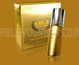 ABLE rejuvenation serum plant stem cell extracts for anti aging treatment, cell therapy for glowing gorgeous, clear, smooth and younger looking skin